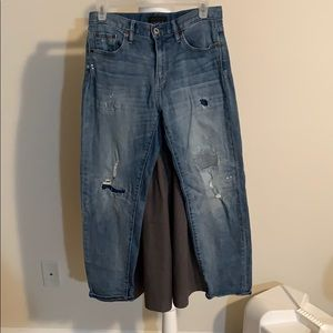 Uniqlo boyfriend fit high rise jeans